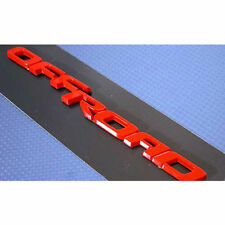 Universal Vehicles OFFROAD Logo Red Tuning Emblem 1 piece 175mm 6.8inch