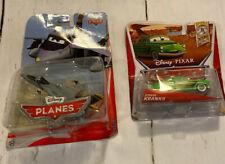 New Lot 2 Disney Pixar Cars Planes Bravo & Edwin Kranks 2012 Diecast Toys