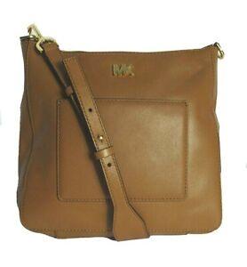 Michael Kors Shoulder Bag Gloria Pocket Swing Pack Leather Acorn Msrp.$248.00