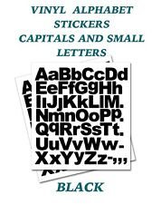 2 X Set of A-z Black Capital & Small Letters Vinyl Stickers Size 20mm