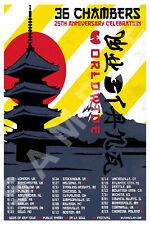 WU-TANG CLAN 12x18 36 CHAMBERS 25TH ANNIVERSARY TOUR POSTER LIVE RAP GZA RZA 4
