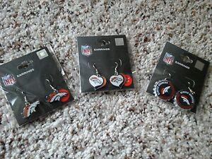 Denver Broncos Earrings Gift Combo