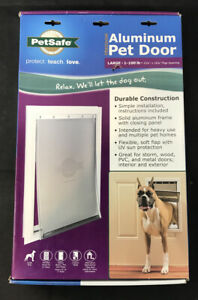 PetSafe Large Freedom Aluminum Dog Door - NEW - Dogs up to 100 lbs - PPA00-10861
