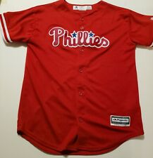 Majestic Philadelphia Phillies Youth Size Large Embroidered Jersey