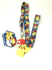 2016 Pokemon Pikachu Ash's Hat Charm Lanyard -NEW
