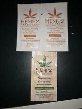 Hempz Herbal Body Wash Moisturizer Samples Tahitian Vanilla/Sugarcane Papaya
