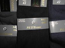 3 a 12 paires chaussette homme Fil d'Ecosse 100%25 coton noir remail made  europe