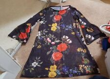 BOOHOO NIGHT shear Floral bell sleeve Dress Size 10