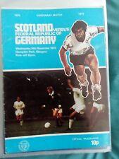 Scotland v F.R. Germany Nov 1973 Centenary Match.