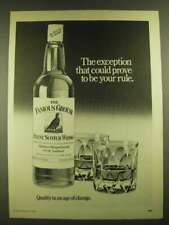 1979 The Famous Grouse Scotch Ad - Could Prove to Be Your Rule