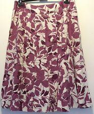 EWM Pure Classice Ladies Linen Blend Pink Ivory Skirt Size 18