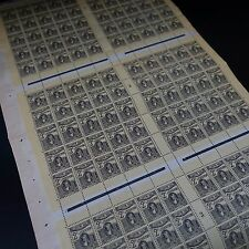 FEUILLE SHEET TUNISIE COLONIE FRANCE TAXE N°38 x150 MILLÉSIME 3 NEUF ** MNH RARE