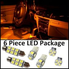 6 Amber LED interior lights package T10 & 42mm map dome +license plate lamp G2Y