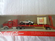 HARTOY,INC. COKE TOY COCA COLA DIE-CAST1:64 TURBO RACING TEAM CAR HAULER