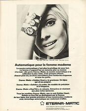 Publicité Advertising 1966 Montre ETERNA MATIC automatique pour la femme moderne