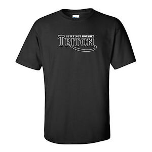 MOTORBIKE-TRITON-BUILT NOT BOUGHT-CAFE RACER-CLASSIC-MOTORCYCLE-BLACK,T-SHIRT
