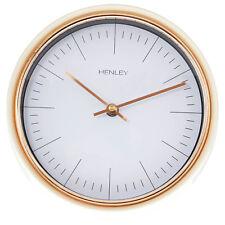Henley 25cm Mini Porthole Design Cream Case Rose Gold Trim Wall Clock Display