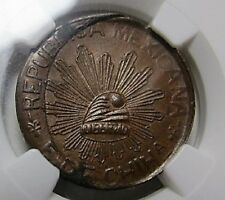 1915 MEXICO, CHIHUAHUA 5C Five Cents DOUBLE STRUCK ULTRA RARE ERROR NGC MS63 BN