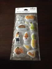 Thanksgiving Puffy Stickers From Hallmark 2 Sheets 24 Stickers