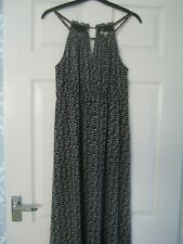 M&S WOMAN MAXI DRESS SIZE 12 CHAIN NECKLINE CUTAWAY DETAIL FLOATY NEW