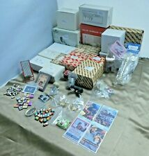 Dollhouse Miniature Furniture Lot Bathroom Sets Drawers Chairs Icebox Counter