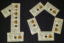 x10 ACB GOLD 1/4GRAIN 24K SOLID BULLION MINTED BAR 9999 FINE CERT/AUTHENTICITY.