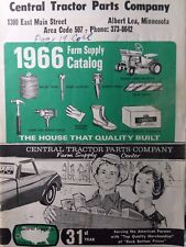 Central Tractor Parts co. 1966 Farm Supply Catalog Case Ford John Deere MF IH AC