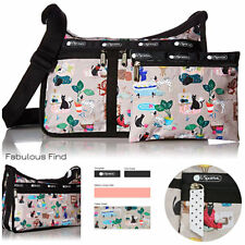LeSportsac Crafty Pets Deluxe Everyday Crossbody Bag Cosmetic Bag Free Ship NWT