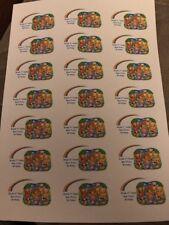 21 Teddy Bear PIC-NIC adesivi personalizzati Party Bag Favore Etichette