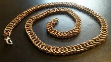 "18"" Persian 4 in 1 Copper and Golden Chain-mail Necklace Hand-made Chain Mail"