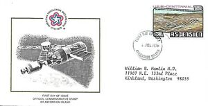 ASCENSION 1976 FIRST DAY COVER, SPACE, AMERICAN BICENTENNIAL