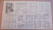 Newnes Home Mechanic 1930s Vintage Original Plans Chart Enclosed Dresser DIY