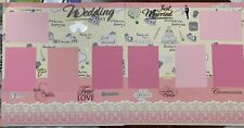 Wedding Day 2-12 x 12 premade scrapbook pages