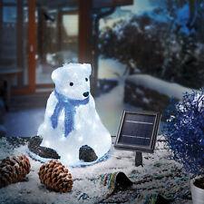 Solaire Leuchtbär Décoration D'Hiver de Noël Eclairage Extérieur, Esotec 102118