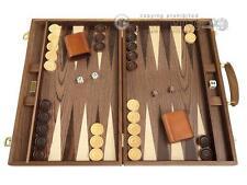 "18"" Wood Backgammon Set - Walnut Burl - Classic Wooden Board Game"