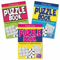A5 Travel Puzzle Word search Crossword Sudoku Book