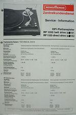 NORDMENDE - RP 1050 belt drive 9.181 1100 9.182 - Service Information - B2556
