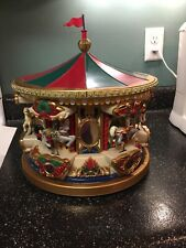 Mr Christmas Holiday Carousel Musical Merry Go Round 21 Songs D24
