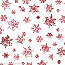 Holiday ELEGANCE Snowflakes sostanze DI NATALE PATCHWORK TESSUTO sostanze fiocchi di neve