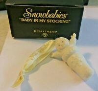 Department 56 Snowbabies BABY IN MY STOCKING 56.05976 2002 in box'