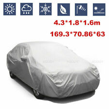 Full Car Cover Waterproof UV Dust Rain Snow Resistant 4.3*1.8*1 Silver Dustproof