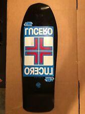 NOS Lucero Cross Vintage Skateboard Deck 1989 Black Label Santa Cruz