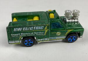 VTG 1974 Hot Wheels HW Electric Service Truck Green Mattel Very Nice Shape