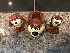 Vintage 1980s Taz Arby's Kids Happy Meal Toy SET of 3 Tasmanian Devil