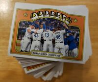 2021 Topps Heritage #1-100 - Finish, Complete Your Set U Pick