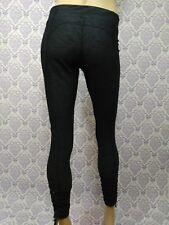 Xersion Fitted Leggings Workout Athleasure Pants Womens Size M Gray Ankle Zip