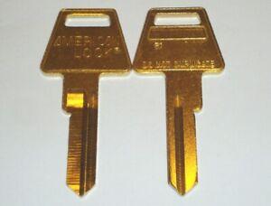 American Lock R1 Restricted Key Way Key Blank 6 Pin Lot of 2