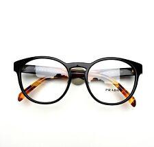 PRADA Eyeglasses Black 16TVF 1AB 52-18-140 Brand New Authentic