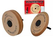 "Flexcut Deluxe ""Power Strop"" 3 1/2"" Diameter Leather Wheel For Tools, Flexpws20"