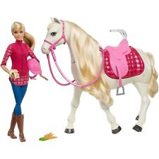 New Barbie Dream Horse And Doll Voice~Touch Activated 30 Realistic Reactions
